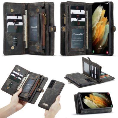 Samsung Galaxy S21 5G Lompakko CASEME Musta