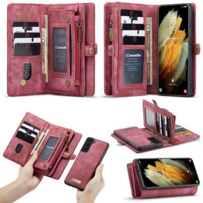 Samsung Galaxy S21 5G Lompakko CASEME Punainen