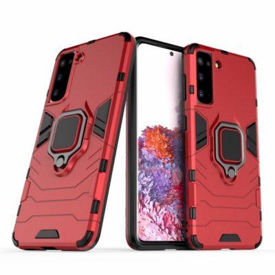 Samsung Galaxy S21 5G Sormus Suojakuori Punainen