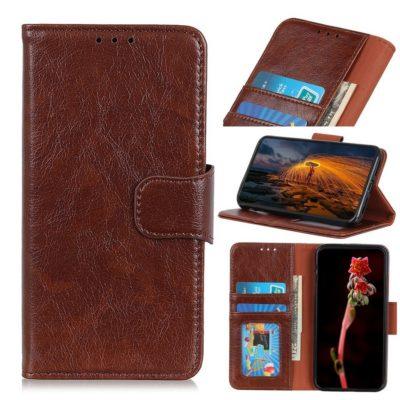 Samsung Galaxy S21 5G Suojakotelo Ruskea Nahka