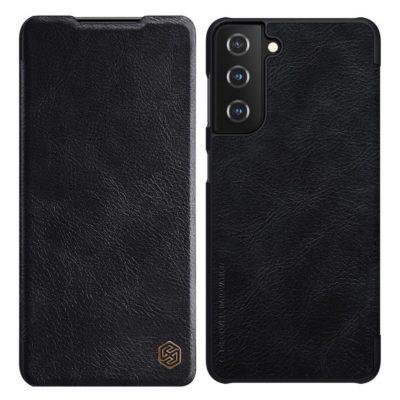 Samsung Galaxy S21+ 5G Kotelo Nillkin Qin Musta
