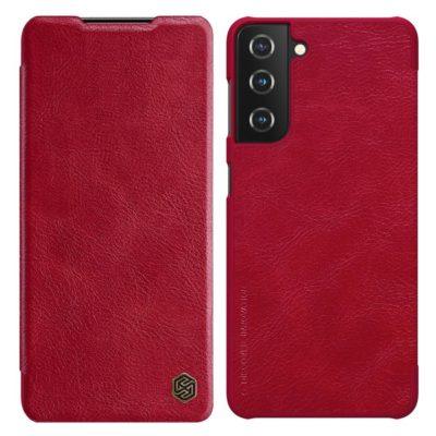 Samsung Galaxy S21+ 5G Kotelo Nillkin Qin Punainen