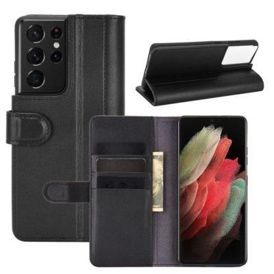 Samsung Galaxy S21 Ultra 5G Nahkakotelo Musta