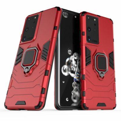Samsung Galaxy S21 Ultra 5G Sormus Kuori Punainen