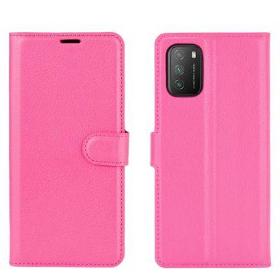Xiaomi Poco M3 Kotelo PU-Nahka Pinkki