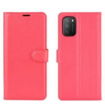 Xiaomi Poco M3 Kotelo PU-Nahka Punainen