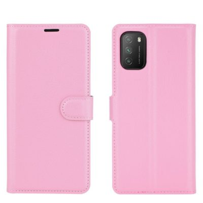 Xiaomi Poco M3 Kotelo PU-Nahka Vaaleanpunainen