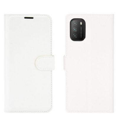 Xiaomi Poco M3 Kotelo PU-Nahka Valkoinen