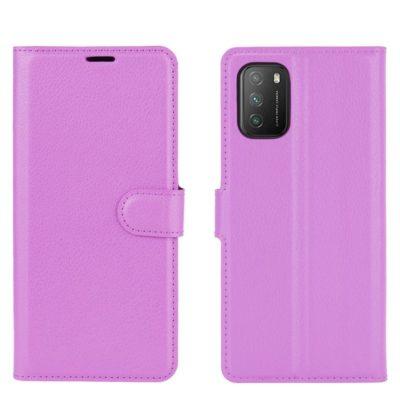 Xiaomi Poco M3 Kotelo PU-Nahka Violetti