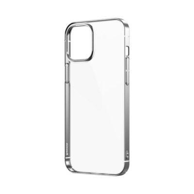 Apple iPhone 12 / 12 Pro Kuori Baseus Glitter Hopea/Läpinäkyvä