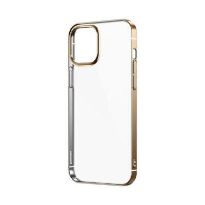 Apple iPhone 12 / 12 Pro Kuori Baseus Glitter Kulta/Läpinäkyvä