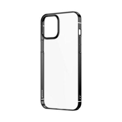 Apple iPhone 12 / 12 Pro Kuori Baseus Glitter Musta/Läpinäkyvä