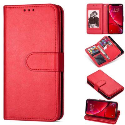Apple iPhone 12 / 12 Pro Lompakko Punainen