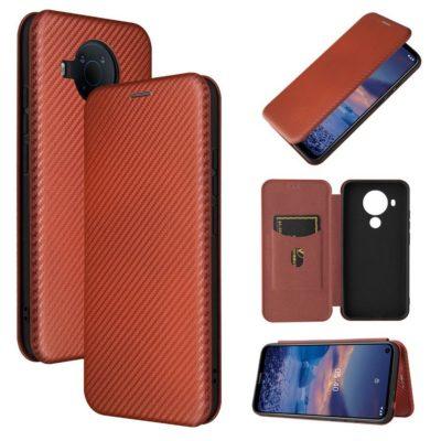 Nokia 5.4 Suojakotelo Hiilikuitu Punainen