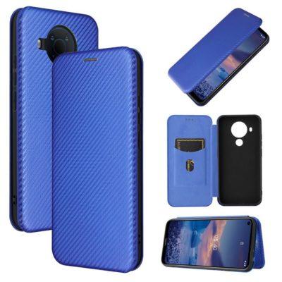 Nokia 5.4 Suojakotelo Hiilikuitu Sininen