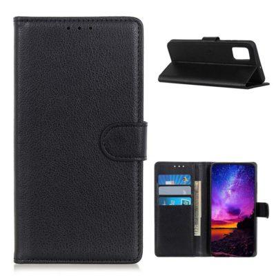 Samsung Galaxy A02s Kotelo Musta Lompakko