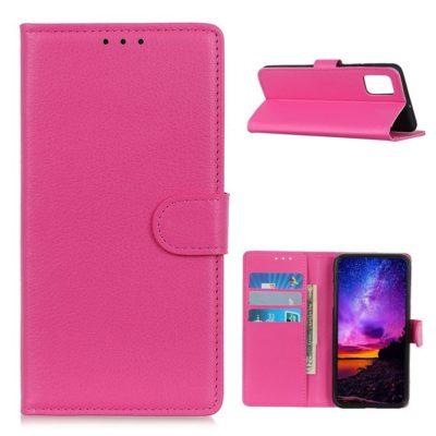 Samsung Galaxy A02s Kotelo Pinkki Lompakko