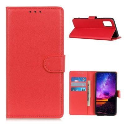 Samsung Galaxy A02s Kotelo Punainen Lompakko
