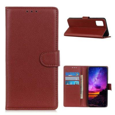 Samsung Galaxy A02s Kotelo Ruskea Lompakko