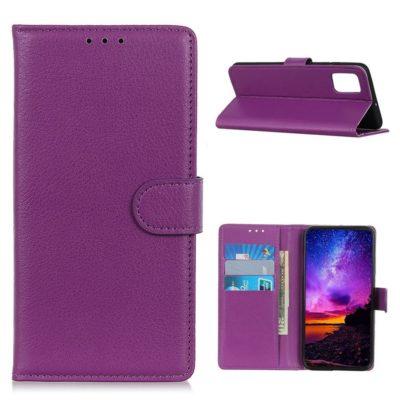 Samsung Galaxy A02s Kotelo Violetti Lompakko