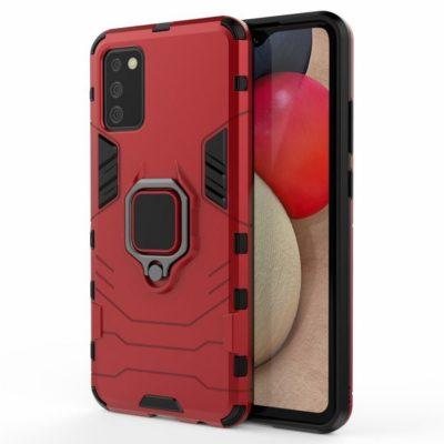 Samsung Galaxy A02s Sormus Suojakuori Punainen