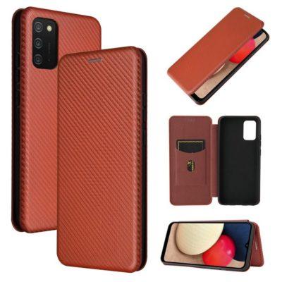 Samsung Galaxy A02s Suojakotelo Hiilikuitu Punainen