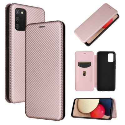 Samsung Galaxy A02s Suojakotelo Hiilikuitu Ruusukulta