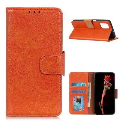 Samsung Galaxy A02s Suojakotelo Oranssi Nahka