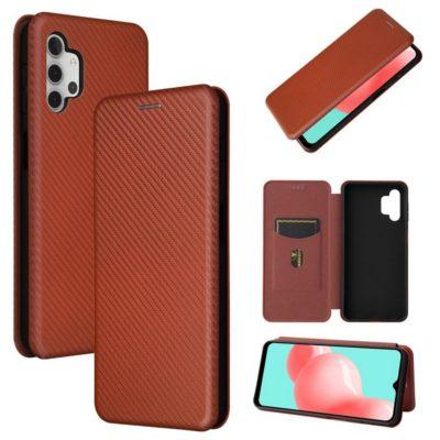 Samsung Galaxy A32 5G Suojakotelo Hiilikuitu Punainen