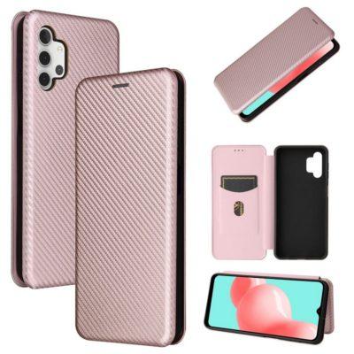 Samsung Galaxy A32 5G Suojakotelo Hiilikuitu Ruusukulta