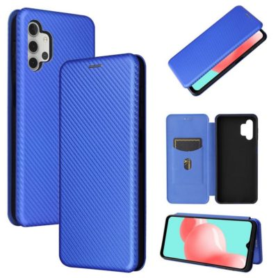 Samsung Galaxy A32 5G Suojakotelo Hiilikuitu Sininen