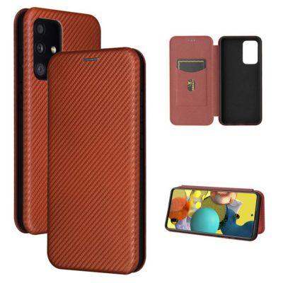 Samsung Galaxy A52 5G Kotelo Hiilikuitu Punainen