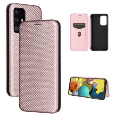 Samsung Galaxy A52 5G Kotelo Hiilikuitu Ruusukulta