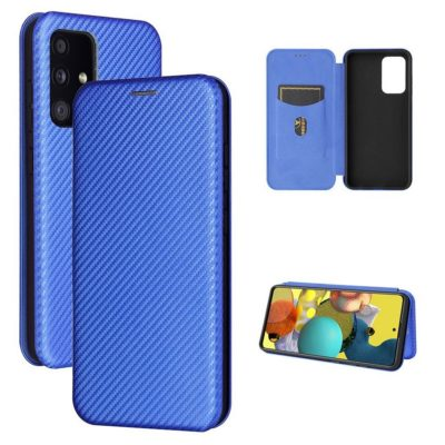 Samsung Galaxy A52 5G Kotelo Hiilikuitu Sininen