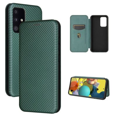 Samsung Galaxy A52 5G Kotelo Hiilikuitu Vihreä