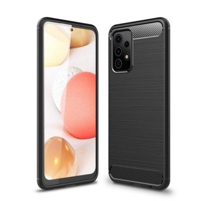 Samsung Galaxy A52 5G Suojakuori Hiilikuitu Musta
