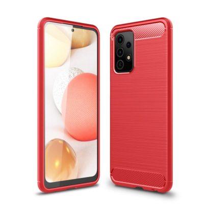 Samsung Galaxy A52 5G Suojakuori Hiilikuitu Punainen