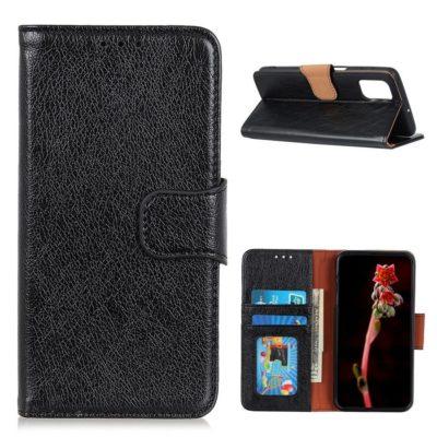 Xiaomi Poco M3 Nahkakotelo Musta Lompakko