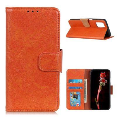 Xiaomi Poco M3 Nahkakotelo Oranssi Lompakko