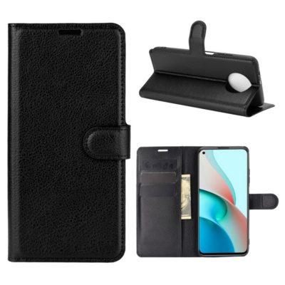 Xiaomi Redmi Note 9T 5G Kotelo PU-Nahka Musta