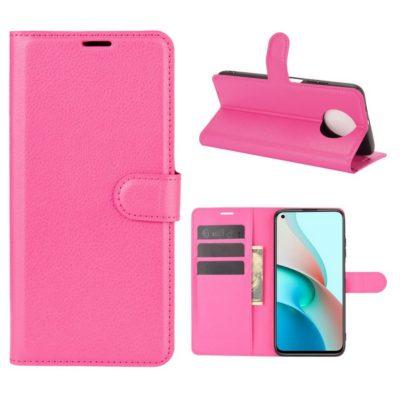 Xiaomi Redmi Note 9T 5G Kotelo PU-Nahka Pinkki