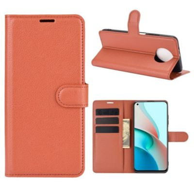Xiaomi Redmi Note 9T 5G Kotelo PU-Nahka Ruskea