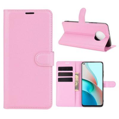 Xiaomi Redmi Note 9T 5G Kotelo PU-Nahka Vaaleanpunainen