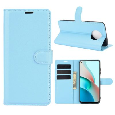 Xiaomi Redmi Note 9T 5G Kotelo PU-Nahka Vaaleansininen