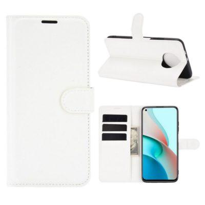 Xiaomi Redmi Note 9T 5G Kotelo PU-Nahka Valkoinen