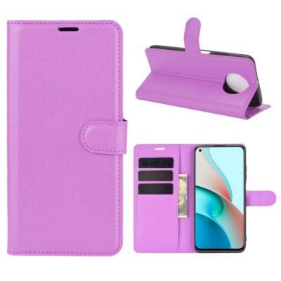Xiaomi Redmi Note 9T 5G Kotelo PU-Nahka Violetti