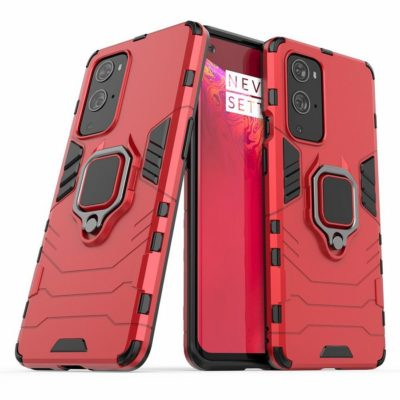 OnePlus 9 Pro Sormus Suojakuori Punainen