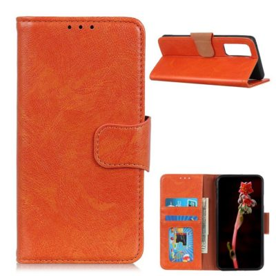 OnePlus 9 Pro Suojakotelo Oranssi Nahka