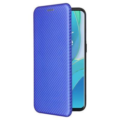 OnePlus 9 Suojakotelo Hiilikuitu Sininen