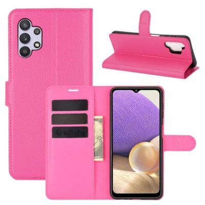 Samsung Galaxy A32 5G Kotelo PU-Nahka Pinkki